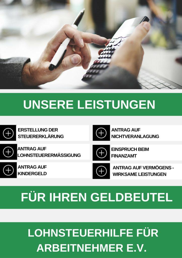 Leistungen des Lohnsteuerhilfeverein in Halle- steuererklärung machen lassen - steuererklärung preiswert erstellen lassen